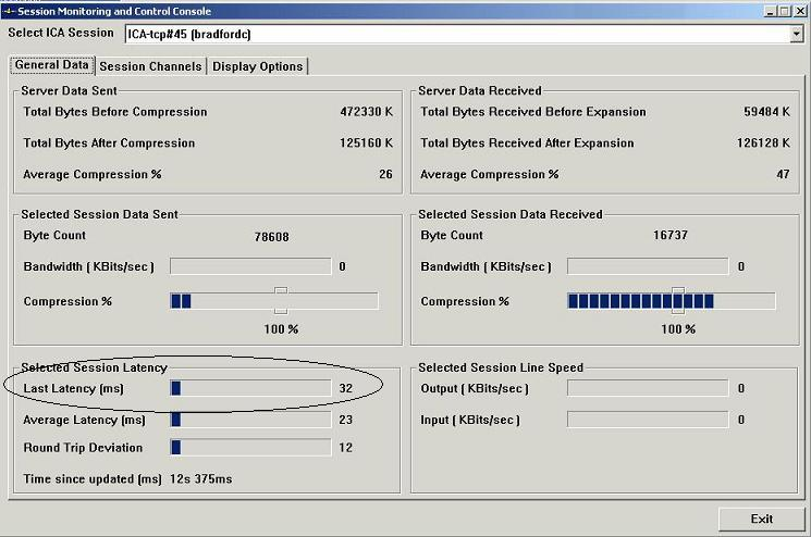 Troubleshooting Citrix Session Poor Response / High Latency