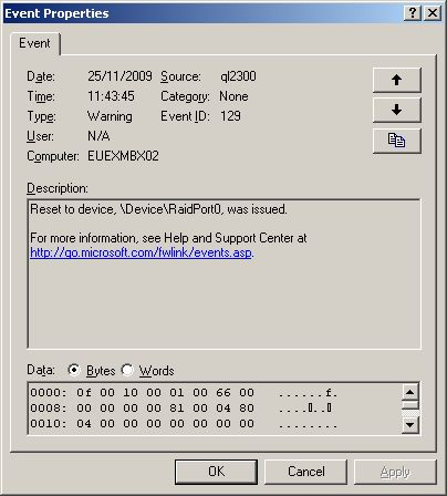 Windows 2003 Cluster :  MPIO Issues