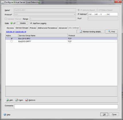 NetScaler : Load Balancing Exchange 2010 | CB-Net