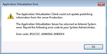 App-V Error